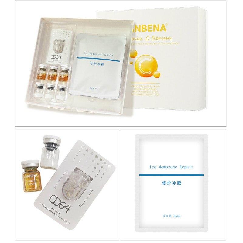 2019 Vitamin C Serum Lyophilized Powder Set Moisturizing Whitening Nourishing Remove Melanin Shrink Pores Repairing Skin Care