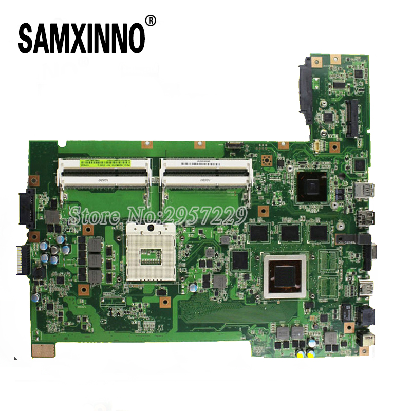 60-N56MB2700-B07 for ASUS G74S G74SX laptop motherboard G74SX REV2.0 Mainboard 2D connector 100% work Tested for asus g74sx laptop motherboard with 2d connector 4 ram slot gtx560m pga989 rev 2 0 full test