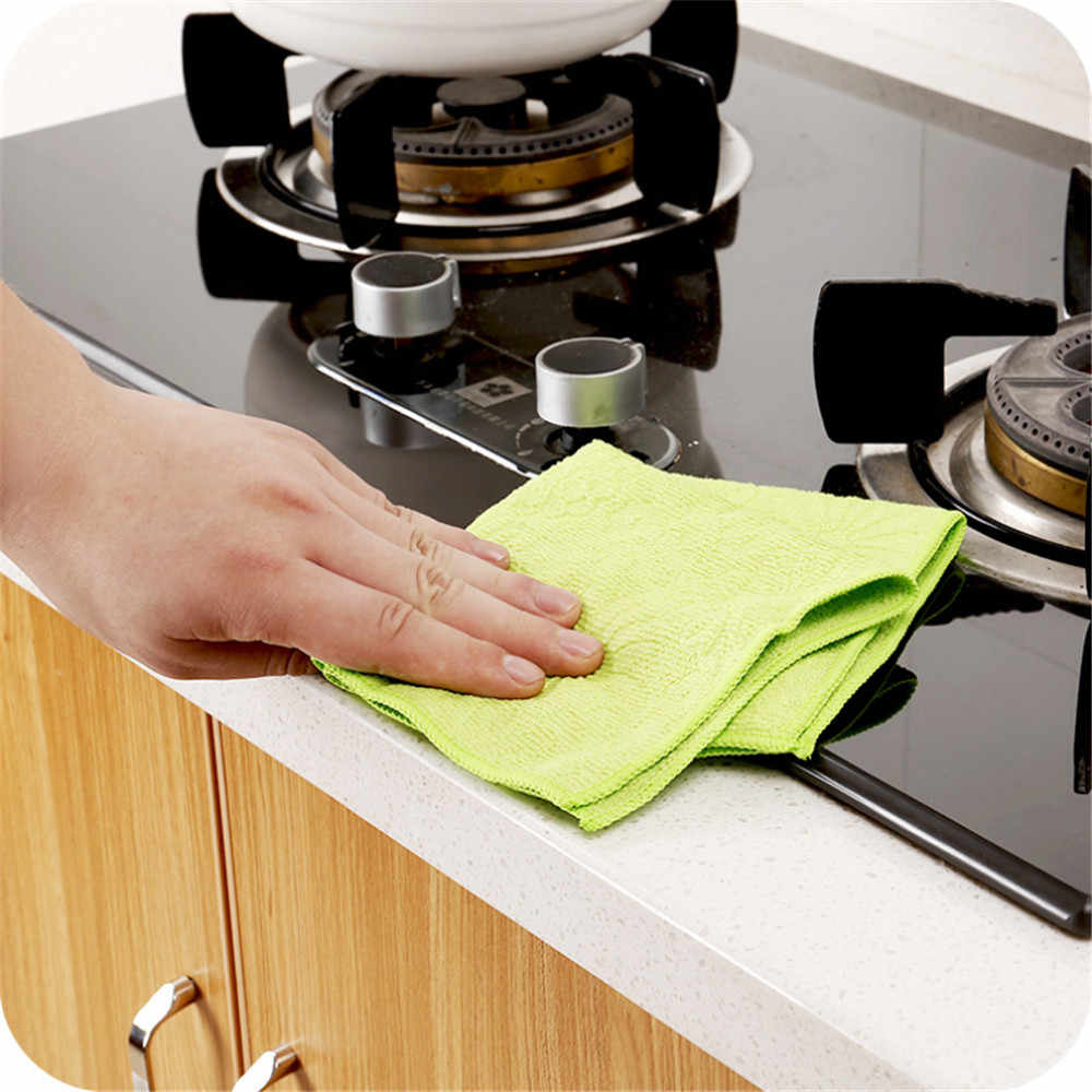 High Efficient Anti-grease Color Dish Cloth Bamboo Fiber Washing Towel Magic Kitchen Cleaning Wiping Rags 2019 Hot Sale