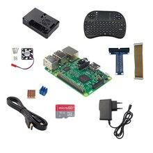 Raspberry Pi 3 Modell B + Netzteil + 16G Sd-karte + Keybaord + fall + Kühlkörper + HDMI Kabel + GPIO Kabel + GPIO Boaed + Fan