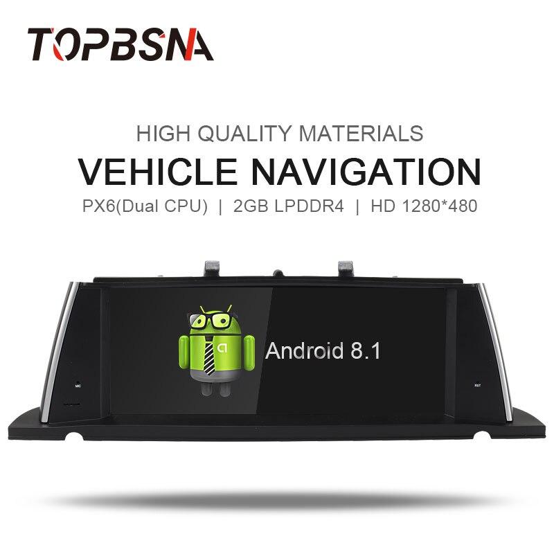 TOPBSNA 10.25 ''Android 8.1 Sistema di Lettore DVD Dell'automobile Per BMW Serie 5 F07 GT 2013-2017 GPS Per Auto multimediale di navigazione Autoradio Audio