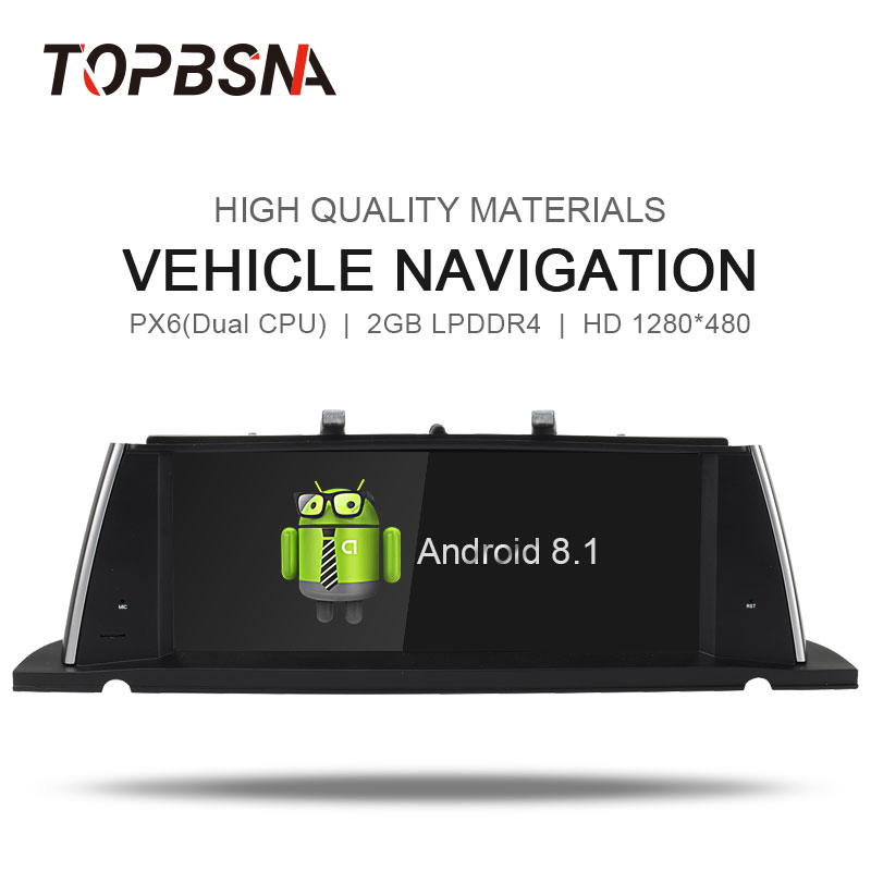 TOPBSNA 10.25 ''Android 8.1 Système Lecteur DVD de Voiture Pour BMW 5 Série F07 GT 2013-2017 Voiture GPS navigation Multimédia Headunit Audio