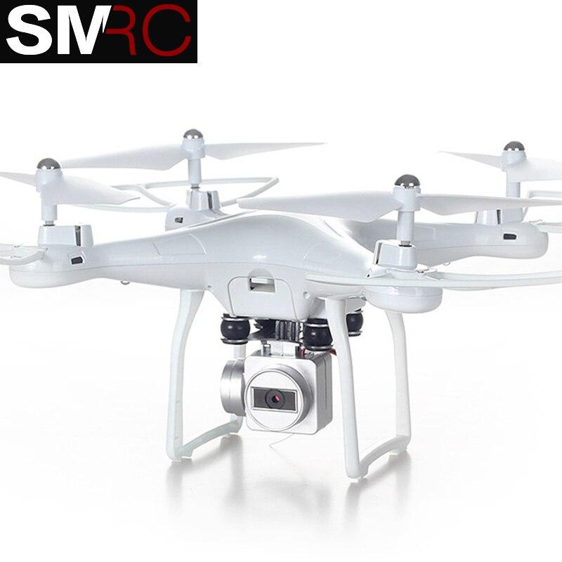 SMRC S10 2.4G 4-AXIS télécommande quadcopter drone avec HD caméra rc dron cam FPV wifi professionnel hélicoptère facile jouer jouet