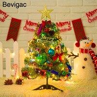 Bevigac 50 cm Kerstboom met LED Light up Tafel Decoratie Xmas Party Ornament voor Home Tafelblad Etalage DIY Decor