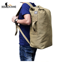 Multifunctional Military Tactical Canvas Backpack Men Male Big Army Bucket Bag Outdoor Sports Duffle Bag Travel Rucksack XA208WD