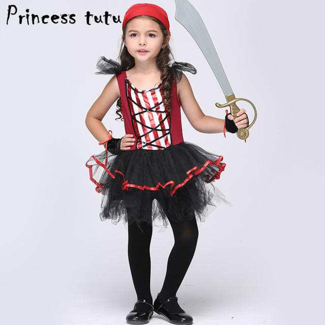 PRINCESS TUTU Kids Girls Clothing Set Fancy Pirate Dress Up Pirate Costume Cosplay Shower Party Dresses  sc 1 st  AliExpress.com : princess pirate costume  - Germanpascual.Com