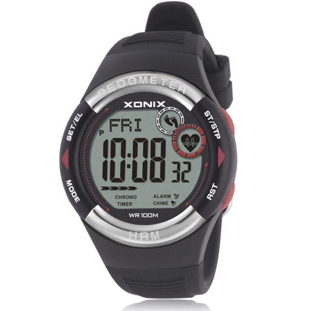8c9f2f8cb158 Reloj de pulsera deportivo para hombre y mujer con Monitor Digital de ritmo  cardíaco podómetro Calories
