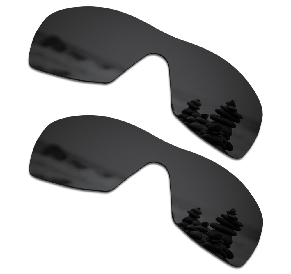 SmartVLT 2 Pieces Polarized Sunglasses Replacement Lenses for Oakley Dart Stealth Black and Stealth Black