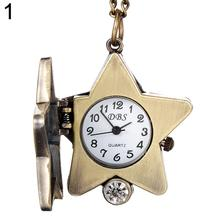 2018 Popular Brand Luxury Vintage Lucky Star Turtle Shape Quartz Pocket Watch Necklace for Women Girl Gift new