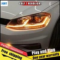 Car Style LED Headlights For VW Golf 2013 2017 For Golf Head Lamp LED DRL Lens