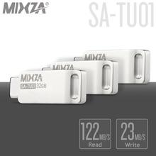 High Speed MIXZA SA-TU01 USB3.0 Type-C USB Flash Drive 32GB OTG Dual Plug PenDrive Mini USB Stick Type-C U Disk for Smart Phone