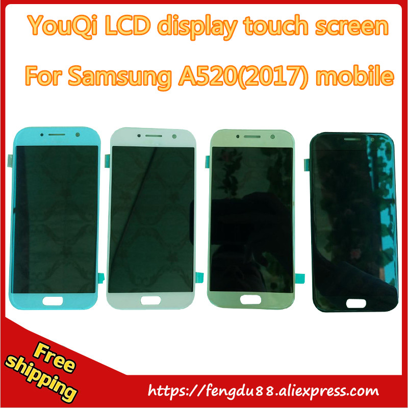 5 piece For Samsung GALAXY A5 2017 A520S A520F A520D LCD Display Touch screen Panel Digitizer Glass Assembly Free Shipping