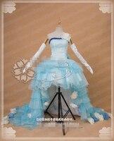 Аниме Vocaloid Hatsune Miku роскошное свадебное платье косплей костюм вечерние для вечеринки платье на заказ
