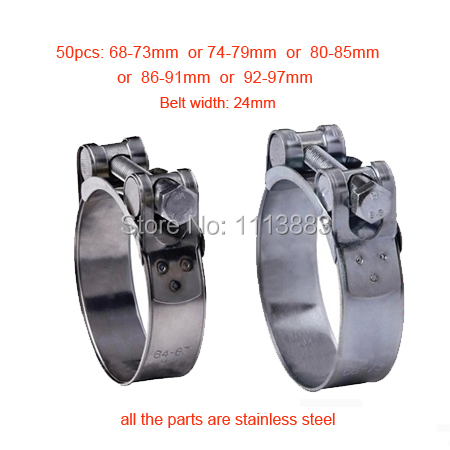Unitary Power Pipe Clips Stainless Steel T Bolt Clamps T Bolt Clip