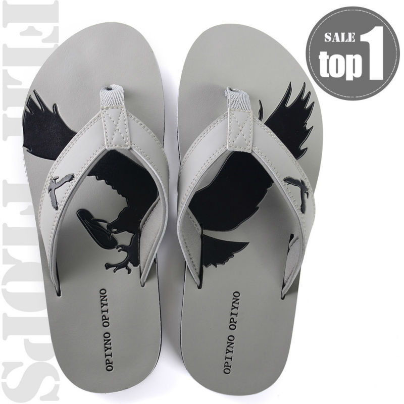 fashionable outdoor summer s flip flops pu leather