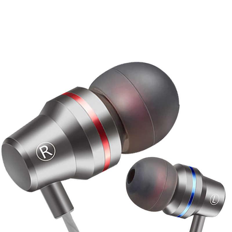 Hot Sale Zinc Alloy HIFI Earphone JK2 Headphone Fone De Ouvido Headset Auriculares Audifonos Stereo Bass Logam DJ untuk Xiaomi