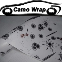 Car Styling Bullet Hole Vinyl FILM Camouflage Car Wrap Adhesive Car Sticker Motorcycle Car Roof Hood Sticker Decal Wrapping