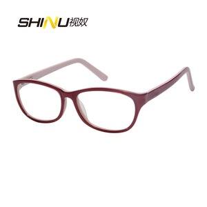 Image 2 - Blokujące niebieskie światło okulary do czytania kobiety przeciw zmęczeniu długim rzut oka okulary UV400 ochrony okulary z acetatu Oculos De Leitura LD016