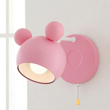 Artpad Modern Indoor LED Wall Light for Bedroom Living Room Fixtures 180 Degree Rotatable Dimmable Kids Lamp E27 Pink
