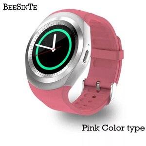Image 4 - Smart watch inteligentna bransoletka na rękę z Bluetooth wody dowód Phone Call wsparcie GSM Sim fitness tracker dla Android informacji