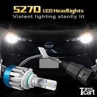 Tcart 1Set Car 527D 9012 HIR2 LED Headlights Auto Headlamps Bright Lights Bulbs Car Accessories For Toyota C HR 2017 2018