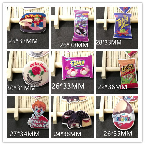 Free shipping 50pcs/lot 25X33MM Mexican snack  planar resin