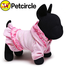 2015 New Petcircle Hot Dog Skirts Lace Cap pet Clothes dog dresses Short Plush pet dog cat Clothes dog hoodie coat Free Shipping