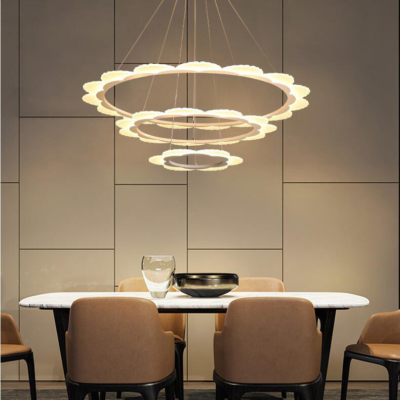 LED pendant Chandelier Personalized Creative Circular Dinning room Lights Living Room Restaurant Pendant Light AC85-260VLED pendant Chandelier Personalized Creative Circular Dinning room Lights Living Room Restaurant Pendant Light AC85-260V