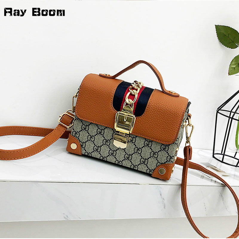 2018 Hot Sell Fashion Vintage Rivet Girl Bag Women Crossbody Bag PU Leather Handbags Purse Clutches Brand Womens Shoulder Bags