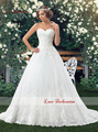 2016 Spring New Design Gardon Style Lace Wedding Dress A Line Bride Gown With Covered Buttons Back White Or Ivory Color