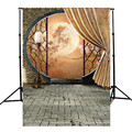 5X7FT vinyl Photography Background For Studio Photo Props Chinese Antiquity Moon Festival Photographic Backdrops 1.5x 2.1m
