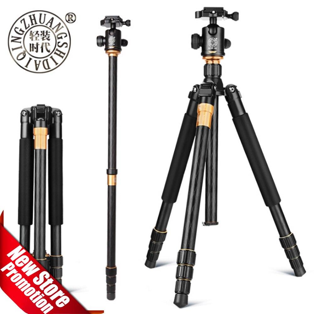 QZSD Beike Q999 Magnesium Aluminiumlegierung Stativ Professionellen Fotografischen Tragbare Ständer Kit Einbeinstativ kugelkopf Für DSLR Kamera