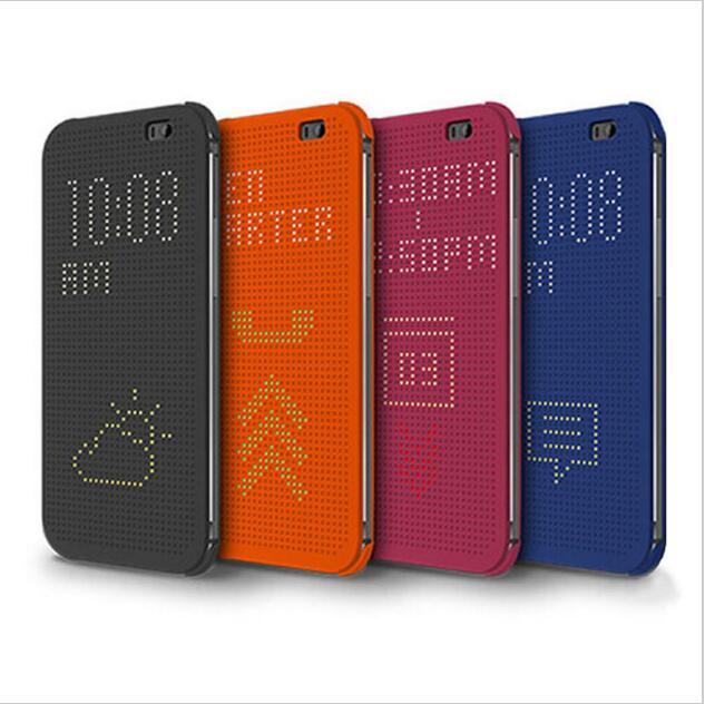 Mince Point Pointillé Sac Smart Auto Sommeil Wake Voir Silicone Téléphone cas Pour HTC Desire 620G 620G 620g D'origine Flip couverture