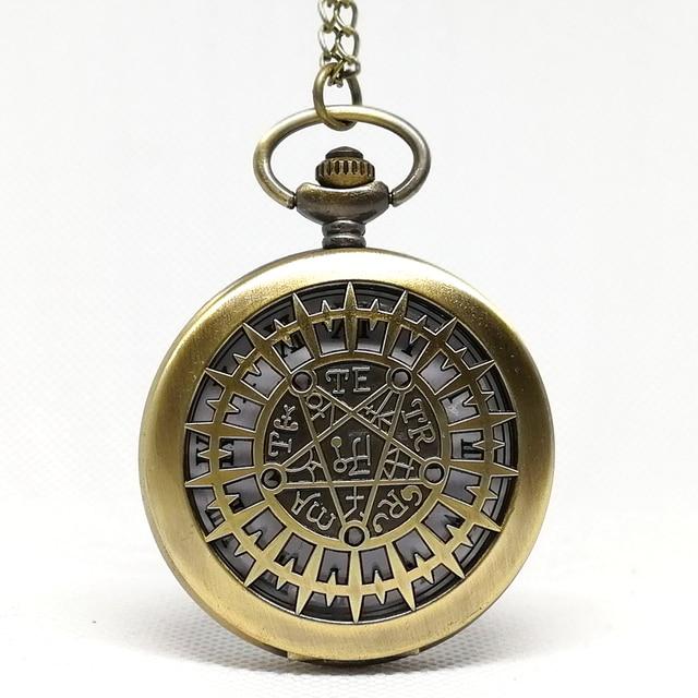 New Fashion Black Kuroshitsuji Black Butler Quartz Pocket Watch Analog Pendant Necklace Men Women Watches Gift Reloj Montre