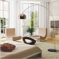 L Parabolic fishing lamp home lighting lighting living room bedroom study business office sitting mahjong floor lamp