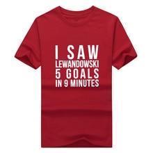 More Color 2017 i saw Lewandowski 5 goals 9 minutes tee T Shirt  100% cotton T-shirts for fans  0304-24