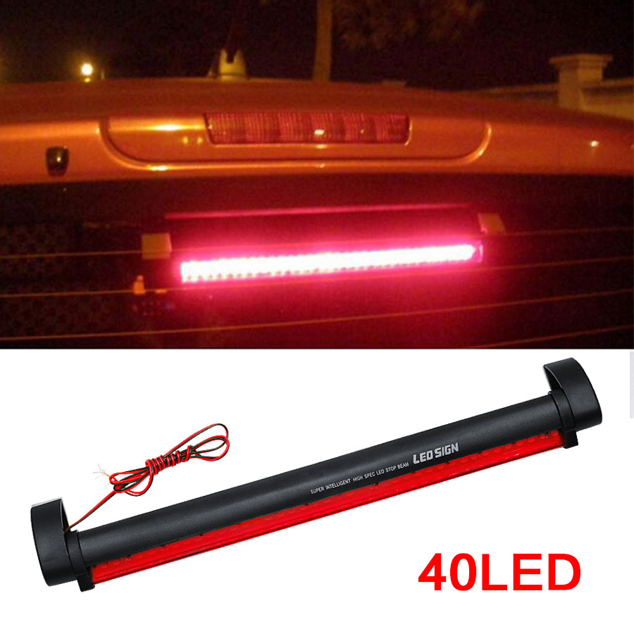 Red 40 DC12V LED Light Vehicle Car Light Source Auto Fog Stop Tail Rear Brake Warning Light Lamp High Quality New Arrival 40 led 34cm dc12v led light vehicle car light source auto fog stop tail rear brake warning light lamp high quality red