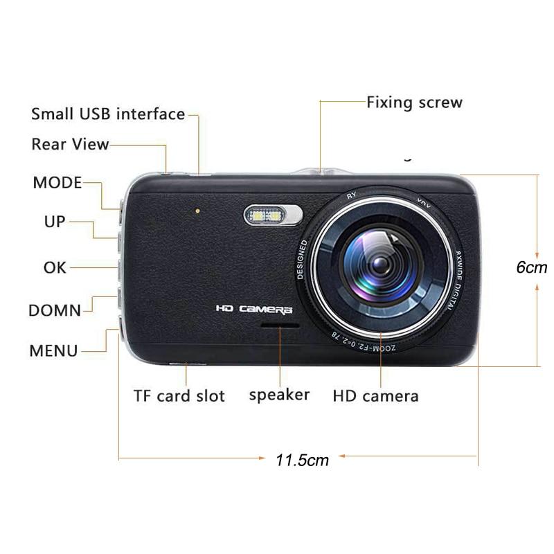 E-ACE Auto DVR Camera Dashcam Dual Lens Met LDWS ADAS - Auto-elektronica - Foto 5