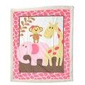 Super Soft Fleece Blue/Pink Baby Blanket Winter Cartoon Pattern Newborn Swaddle Wrap Blanket & Swaddling