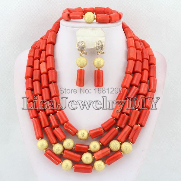 African Coral Beads Jewelry Sets Nigerian Wedding African Bridal Jewelry Set Free Shipping     HD0350African Coral Beads Jewelry Sets Nigerian Wedding African Bridal Jewelry Set Free Shipping     HD0350