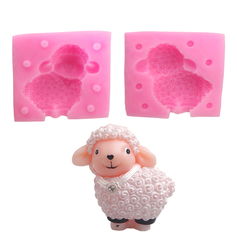 Cartoon 3D Sheep Soap Silicone Mold Animal Silicone Mold Cake Decoration Tools Chocolate Candy Craft Handmade Soap Making
