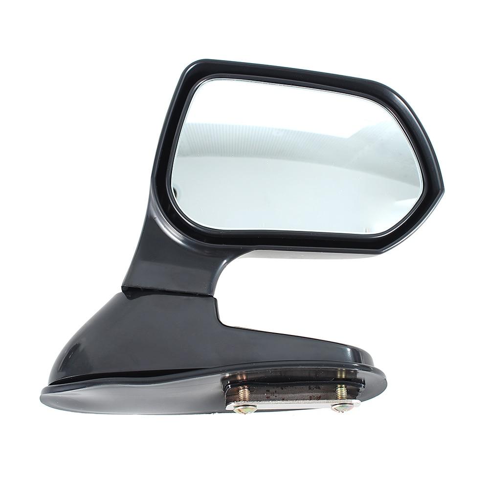 1 paire Noir Couleur Grand Angle Arrière Miroirs Voiture Blind Spot Carré Vue Latérale Miroir Plat Côté Vue Arrière de Miroir