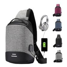 Chest Bag Men Crossbody Bag USB Anti-theft Buckle Design High Capacity Suit For Pad Water Repellent Shoulder Bag 2019 Trave Bag