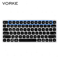 VORKE K2 Aluminum Alloy Wireless Bluetooth Ultra Thin Backlit Keyboard 5 Hours With Backlit On For
