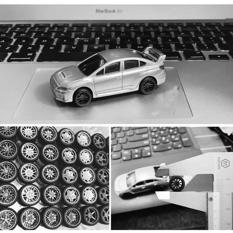 4pc 1//64 Wheels Rims Hub w// Brake Refit Wheels for Tomica Car Adult Toys