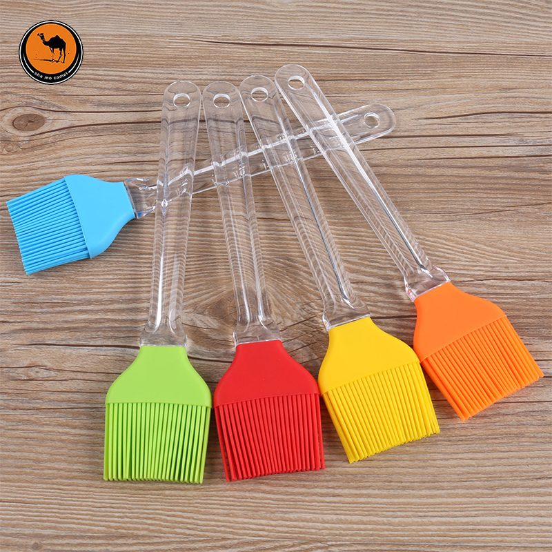 3 Pcs BBQ Tools 24cm Large Size Silicone Grilled Brushes Barbecue Accessories Portable Food Oil Brush Random Color