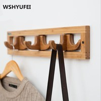 Modern Simple Clothes Hanger Natural Nanzhu Making Hooks Home Decorations / Wall Decoration Foldable / Clothes Hooks / Durable