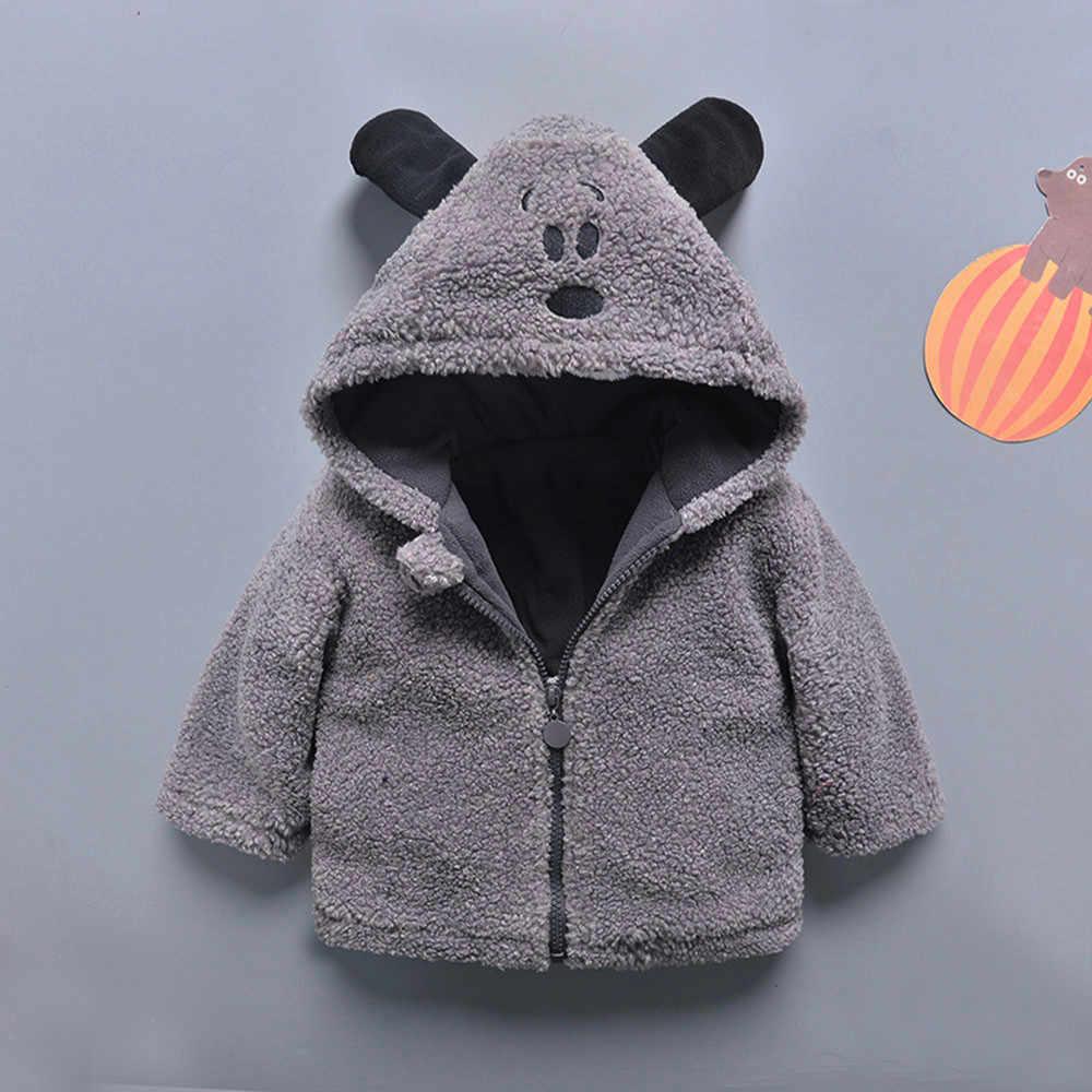 Осеннее мягкое зимнее пальто с капюшоном для маленьких мальчиков и девочек; плащ; куртка; плотная теплая одежда
