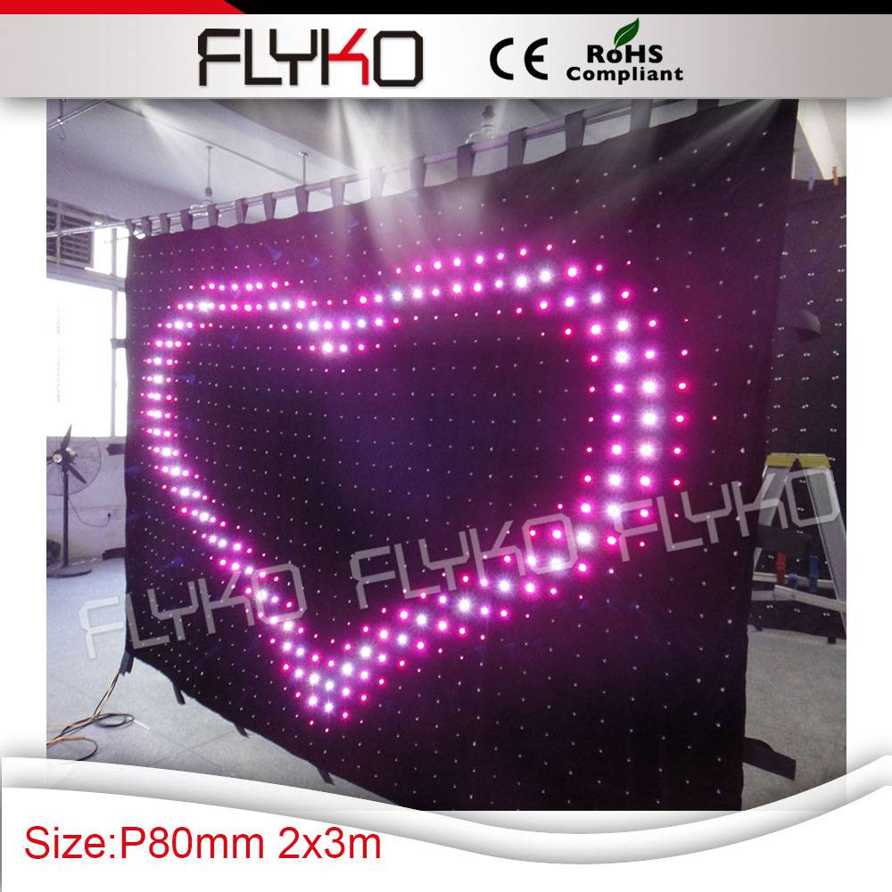 P8 led video curtain 6