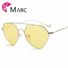 MARC UV400 WOMEN Pilot Eyewear Alloy Gradient classic metal sunglasses goggle Oculos Green Black